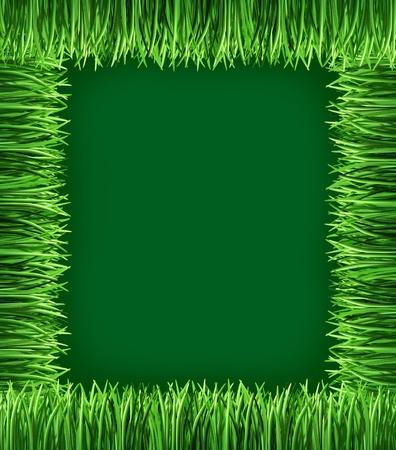 fondo verde oscuro: Estructura de hierba que representa el s�mbolo de la jardiner�a y la horticultura verde de las plantas y la naturaleza cada vez naturaly en un jard�n de su casa en un fondo verde oscuro. Foto de archivo