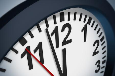 Klop de klok deadline symbool met een timer die de stress van het schema beperkingen in het bedrijfsleven en familie afspraken.