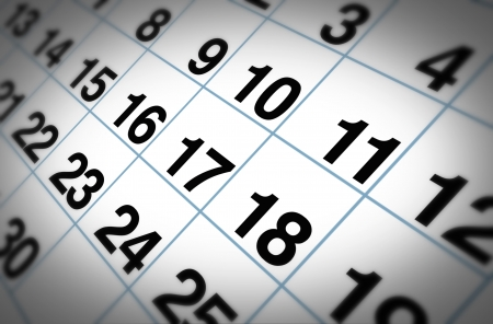 important date: Open important date on a daily month calendar representing planning and strategy for family and business events. Stock Photo