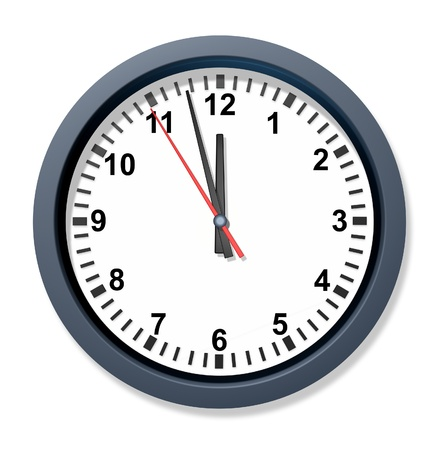 constraints: Front urgency clock symbol with a wall timer representing the stress of urgent time constraints in business and family appointments.