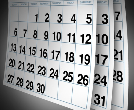 Open important date circled on a daily month calendar with a red mark representing planning and strategy for family and business events. Stock Photo - 10542757