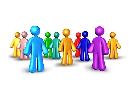 relaciones publicas: De relaciones p�blicas con las empresas socios de la red de marketing y referencias para construir relaciones y establecer nuevos contactos representado por un grupo de personas se reunieron juntos como una comunidad.