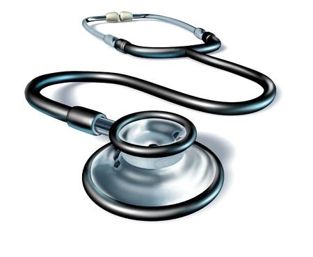 estetoscopio corazon: salud estetoscopio aislados Foto de archivo