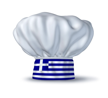 cuisine: Greek cooking symbol represented by a chef