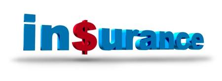 dolar: S�mbolo de Seguros representado por el texto y un signo de d�lar que representa el concepto del alto costo de tener un seguro para la salud o la vivienda y el autom�vil.