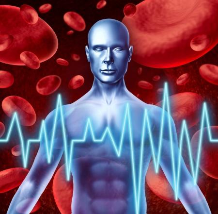 hemorrhage: Simbolo corsa e cuore segnali di allarme attacco medici tra cui la perdita di forza e difficolt� a parlare intorpidimento e problemi di vista causati dalla cattiva salute del sangue e la circolazione.