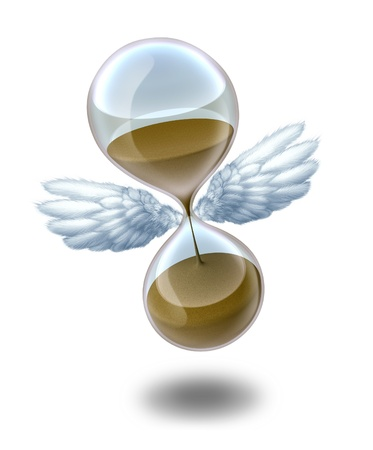 Time flies symbol of deadlines and calendar countdown representing days minutes and seconds. Stock Photo - 10892102