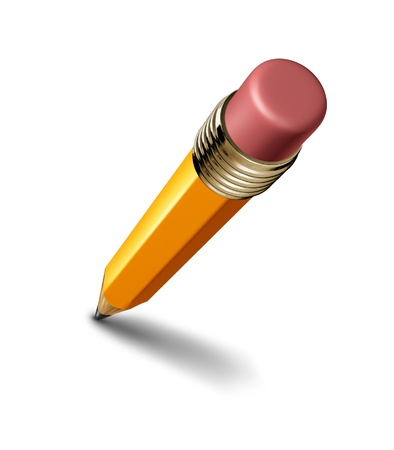 sharpen: Pencil isolated on white background representing the concept of education and the freedom of artistic writing and drawing.