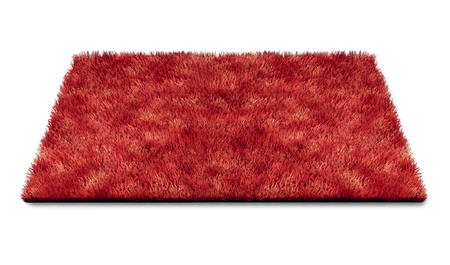 carpet: Red carpet piece repesenting luxury and movie star glamour isolated on white.
