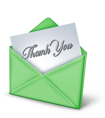 merci: Vous remercie de noter dans une enveloppe verte repr�sentant gratitude et ses remerciements pour un acte amical de la famille et de grands utiles amis de longue date.