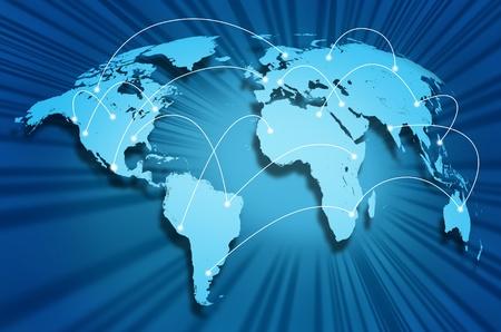interaccion social: Conexiones globales de Internet en todo el mundo conectando los sitios de redes sociales y portales web de los proveedores internacionales de tecnolog�a y centros de comunicaci�n.