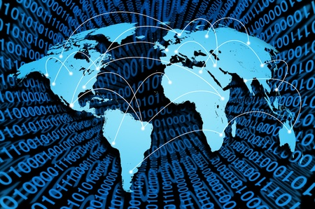 Global internet with digital connections from around the world representing the concept of network communication. Stock Photo - 10909990