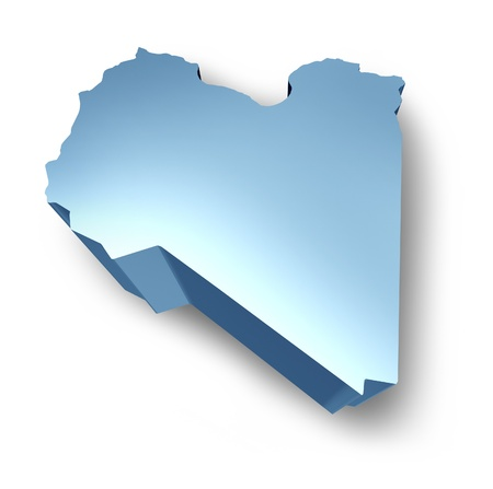 Libya symbol representing a dimensional isolated view of the Libyan north africa country. Stock Photo - 10909905