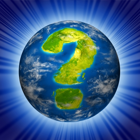 risky situation: Risk and global uncertainty representing the concept of business and economic health of the planet earth as well as geo political and environmental situation. Stock Photo
