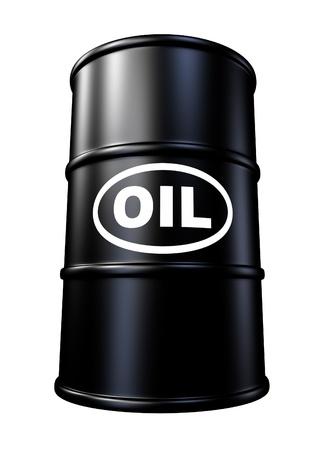Barils de pétrole et de conteneurs tambour représentant l'énergie d'essence et de l'industrie des combustibles fossiles. Banque d'images