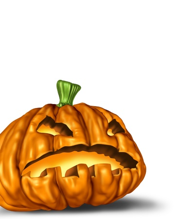 jack o lantern halloween pumpkin with white background Stock Photo - 10945915