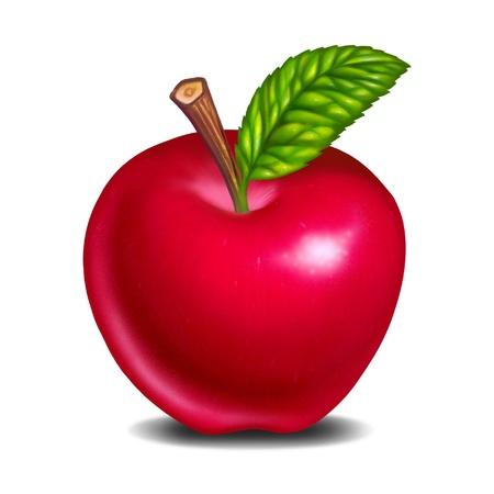 pomme rouge: pomme rouge frais et d�licieux isol� Banque d'images