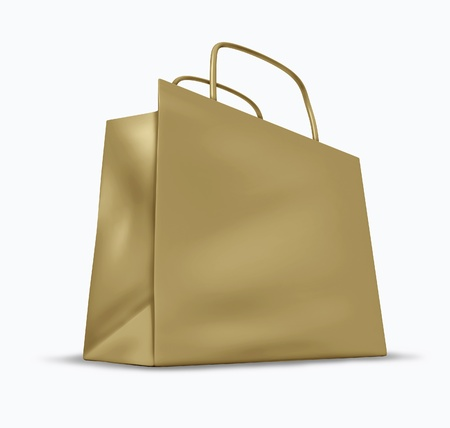 Brown bag with blank packaging representing shopping and sales. Stock Photo - 10945898