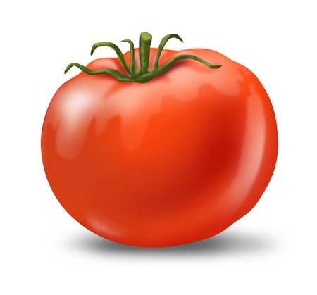 Tomato juicy fresh healthy red isolated photo