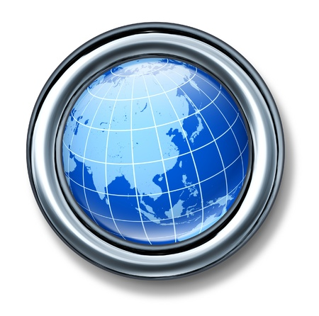 asia pacific: button asia pacific globe earth isolated Stock Photo