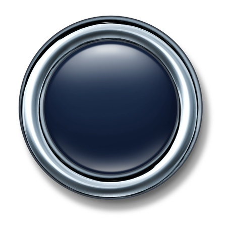 button black metal frame isolated