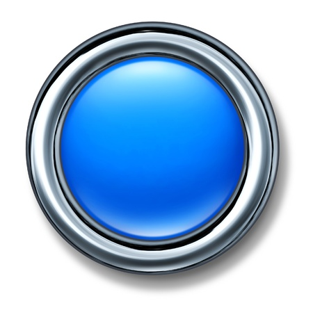 blue button: blue button isolated