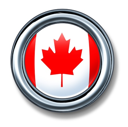 button Canada isolated photo