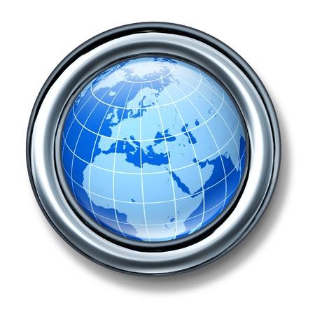 유럽의: button europe european globe earth isolated 스톡 사진