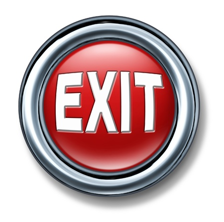 depart: button exit leave emergency depart escape go out isolated