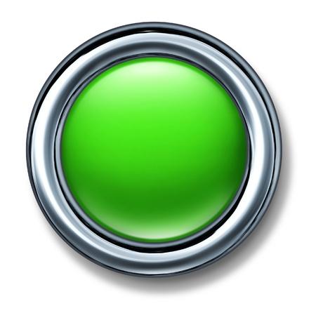 green button isolated Stok Fotoğraf