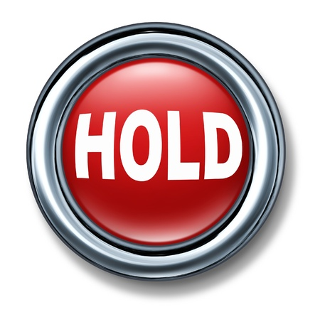hold Button isolated on white background Stock Photo - 11155869
