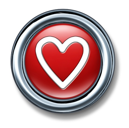 button web internet isolated love match online dating relationship heart Stock Photo - 11155884