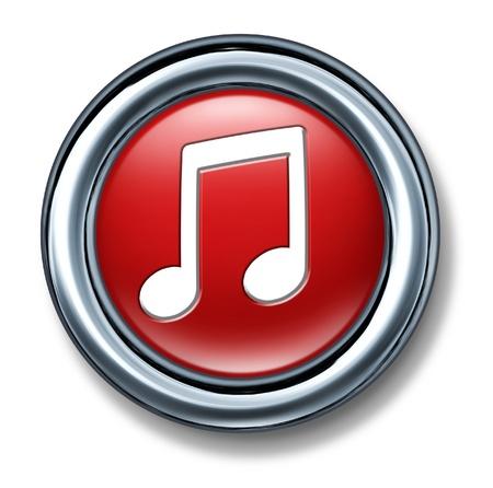 button web internet isolated music note download digital song Stock Photo - 11155870
