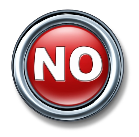 vote: button no select vote decision red not OK isolate Stock Photo