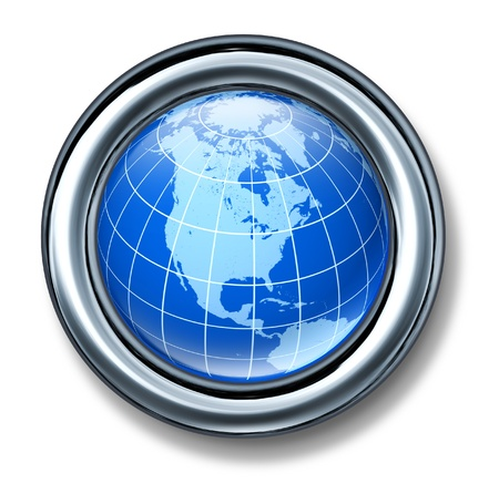 button north america globe earth isolated Stock Photo - 11155904