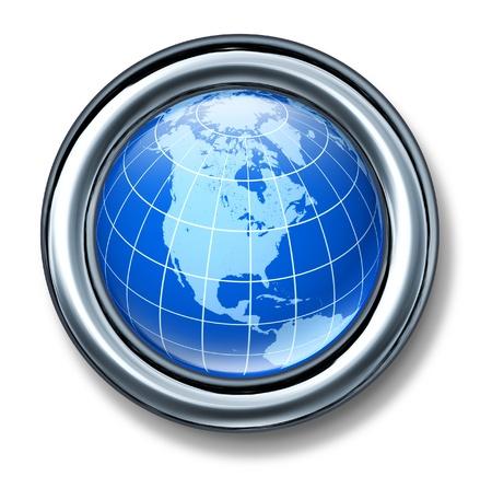 button north america globe earth isolated Stock Photo - 11155904