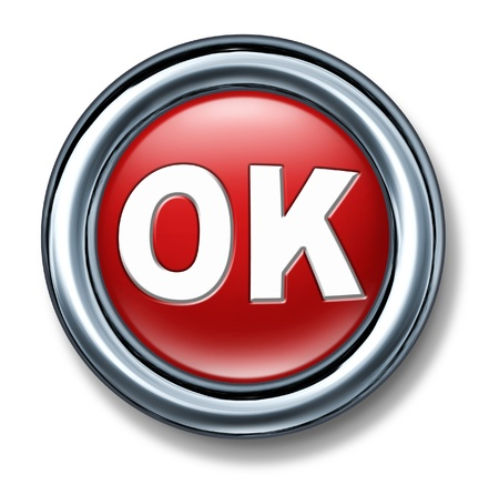 vote: button OK yes right vote isolated