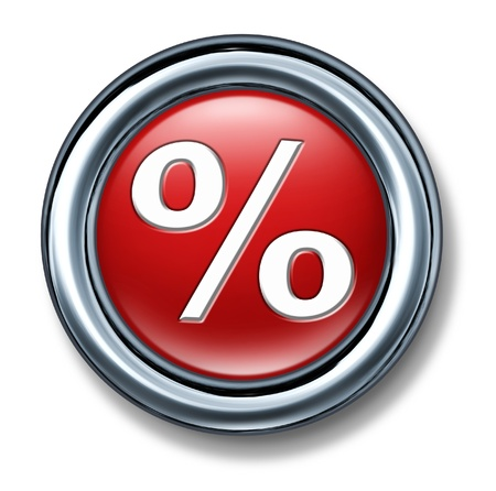 button web internet isolated percentage mortgage rates up down interest Stock Photo - 11155886