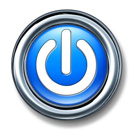 uaktywnić: przycisk zasilania na niebiesko poza izolowanym Zdjęcie Seryjne