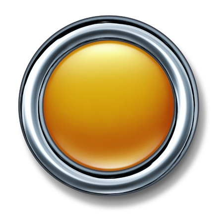 gold button isolated