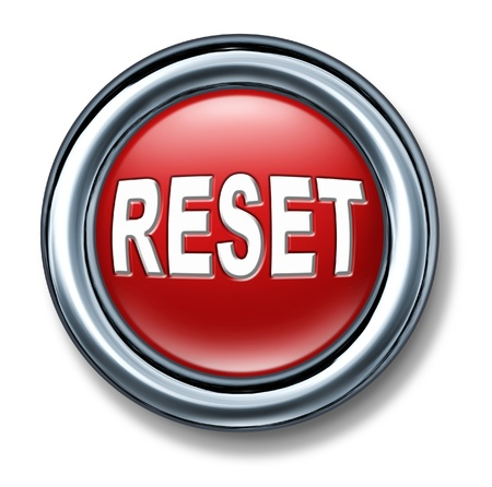 button: button reset start over redo restart again renew new reboot isolated