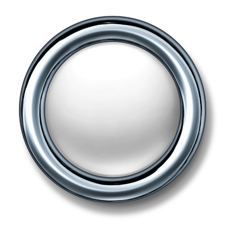 button white isolated metal frame Stock Photo - 11155867