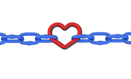 heart stroke attack stressed pressure health medical symbol connections chain links isolated icon Stock Photo - 11155834