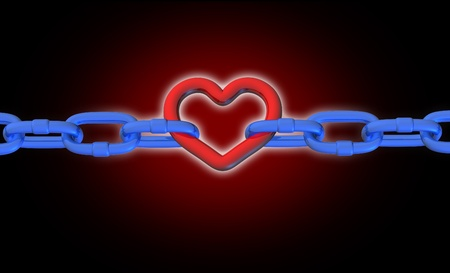 chain link: Heart stroke attack stressed pressure health medical symbol connections chain links icon