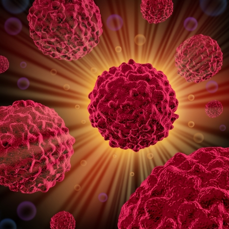 종양 세포 손상과 같은 환경 발암 유전자 원인으로 인한 인체와 같은 악성 세포 성장 및 확산 암세포 질병을 치료하기 위해 처리된다. 스톡 콘텐츠 - 11221490