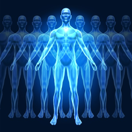 教育と個人の内的強さの概念を示す漸進的な幸福の成長する段階で人間で表される人間の成長開発とリーダーシップの記号。