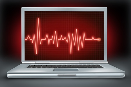 computer health laptop repair software hardware ecg ekg Stock Photo - 12034666