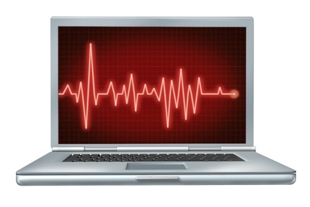 computer health laptop repair software hardware ecg ekg 版權商用圖片