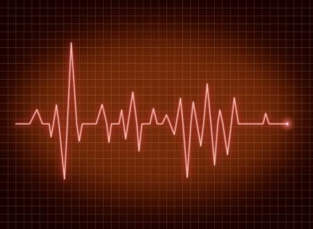 battement du coeur: ECG battement de coeur d'impulsion de vie signe la ligne rouge