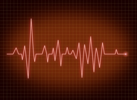 pulse trace: ECG pulse heartbeat life sign red line